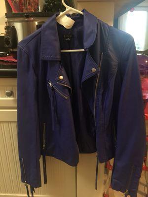 Woman's dallas blue fringe jacket small for Sale in Myrtle Beach, SC