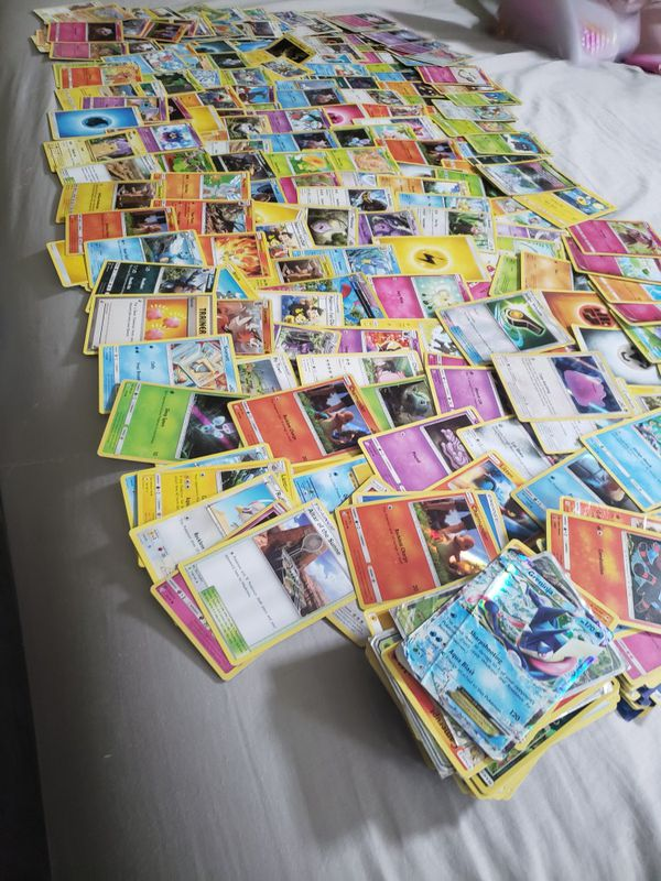 343 pokemon cards. 99% are in great condition...some are the same exact cards over and over. Here's a glimpse. Take all. Best offer