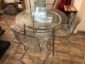 Glass top dining table for Sale in Torrance, CA