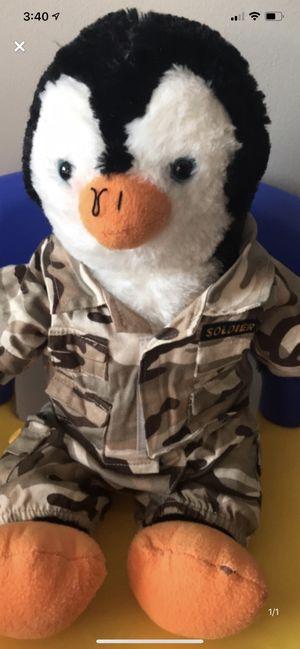Soldier penguin stuffed animal for Sale in Camden Wyoming, DE