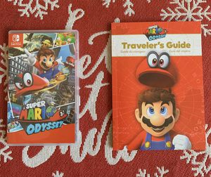 Super Mario Odyssey with Bonus Travelers Guide for Nintendo Switch for Sale in Jacksonville, FL