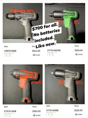 Snap-On 14.4 Microlithium Power Tools for Sale in Portland, OR
