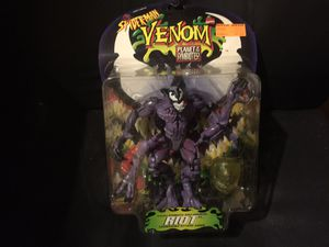 Riot Venom Planet of the Symbiotes Action Figure Spider-Man Marvel Toy Biz 1996 for Sale in Everett, MA