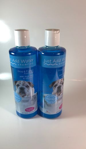 Just Add Water Shampoo, Dog and Puppy Formula w/ Aloe Vera Clean Scent Pack of 2 for Sale in Accokeek, MD