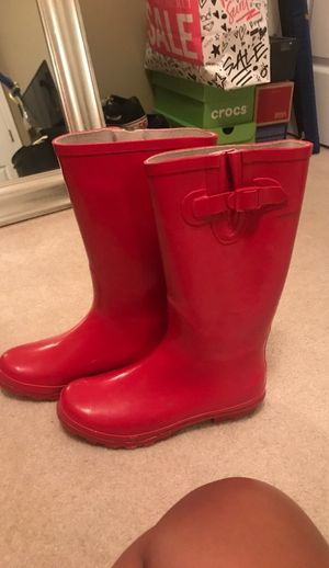 Red rain boots for Sale in Knightdale, NC