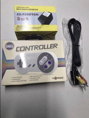 Super Nintendo accessories controller power av for Sale in Miami, FL