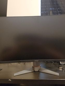 """Msi 27"""" Curved Monitor, Hdmi Cable And Box It Came With for Sale in Vancouver,  WA"""
