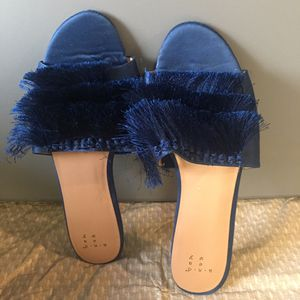 Royal blue fringe sandals for Sale in Edgerton, MO