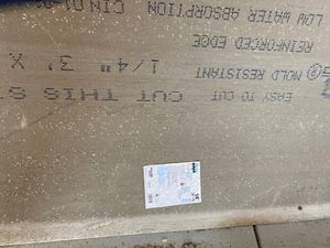 """Permabase cement never used. 1/4"""" for Sale in Saginaw, MI"""