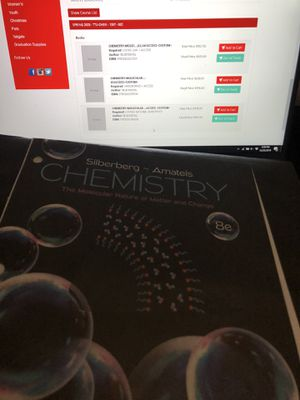 Chemistry textbook/loose leaf [CHEM 1307&1308] for Sale in Lubbock, TX