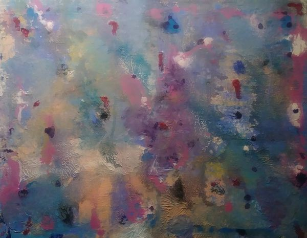 Hand-painted original abstract art