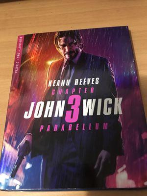 JOHN WICK 3 BLU-RAY DVD DIGITAL MOVIE for Sale in Long Beach, CA