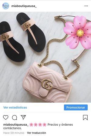 Gucci bag and Gucci sandals for Sale in Harvey, LA