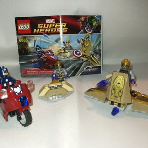 Lego Superhero 6865 Captain America Avenging Cycle for Sale in San Francisco, CA