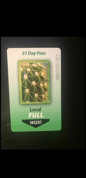 31 day monthly bus pass for Sale in Mesa, AZ