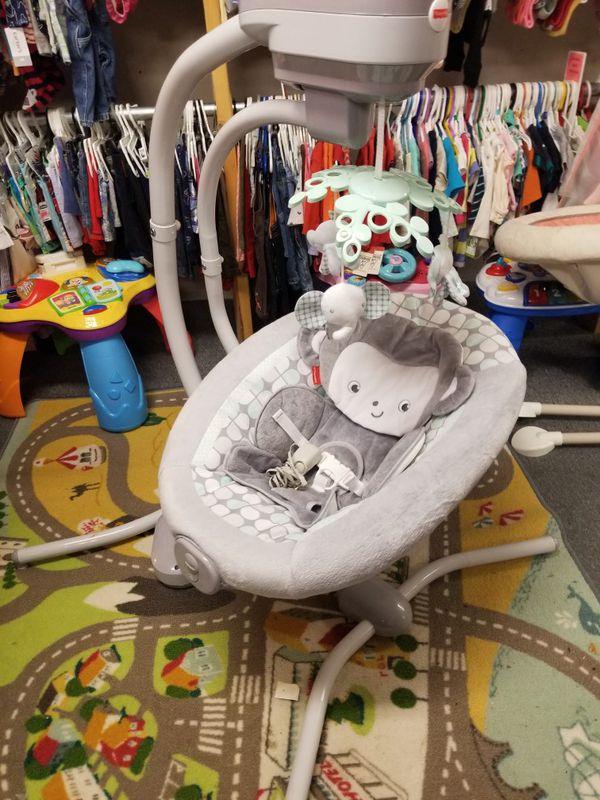 Fisher-Price Sweet Surroundings Monkey Cradle 'n Swing Infant baby electric swing