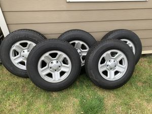 2016 Jeep Wrangler Wheels & Tires (set of 5) for Sale in Covington, WA