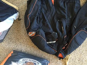 Harley Davidson Motorcycle Jacket and shoe covers for Sale in San Diego, CA