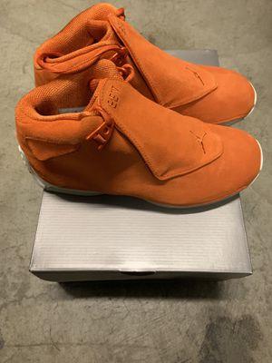 NEW Air Jordan Retro 18 Campfire Orange SZ9.5 for Sale in Los Angeles, CA