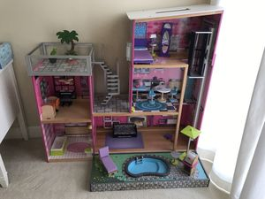 "Grand Doll House in Perfect Condition 4ft wide and 46"" inch (almost 4 ft) tall includes all accessories for Sale in Irvine, CA"