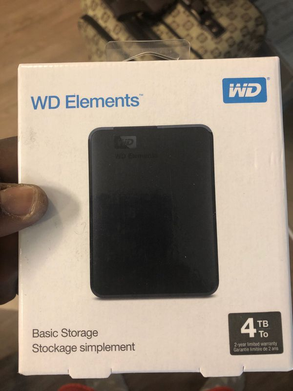 WD Elements 4tb storage component.