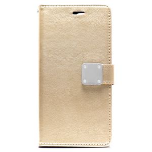 iPhone 8 Plus/ 7 Plus Multi Pockets Folio Flip Leather Wallet Case w/strap (Champagne Gold) for Sale in Chester, VA