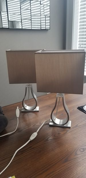 Modern Ikea table lights 17 3/8 for Sale in Cleveland, OH