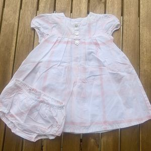Dress + pants 0 / 3 months pink Burberry baby kids girls for Sale in Miami, FL