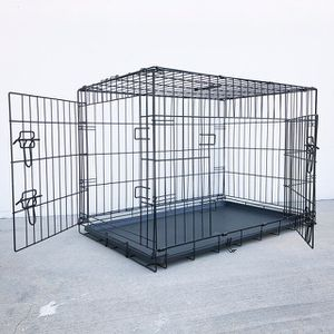 """(NEW) $45 Folding 36"""" Dog Cage 2-Door Pet Crate Kennel w/ Tray 36""""x23""""x25"""" for Sale in Pico Rivera, CA"""