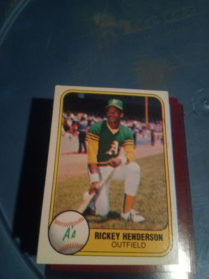 Rick Henderson 2 year baseball card for Sale in Ontario, CA