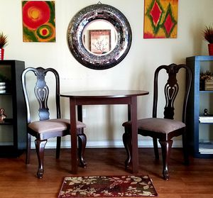 "Espresso 3 Piece Dining /Kitchen Set. Table Dimensions: 37"" Diameter for Sale in Winter Park, FL"