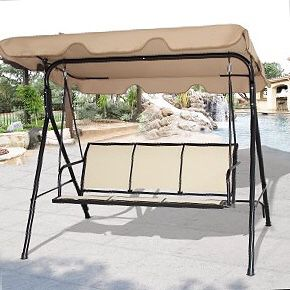 New in box $90 each 528 lbs capacity porch swing bench chair with canopy sun shade sun blocker for Sale in Norwalk, CA