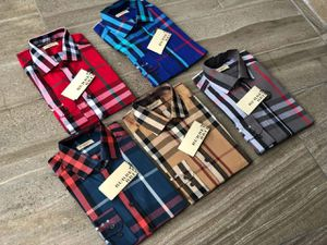 New men's burberry plaid dress shirts for Sale in Los Angeles, CA