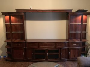 Entertainment Center with Lights for Sale in Charlotte, NC