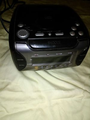 Black CD player with clock radio for Sale in Phoenix, AZ