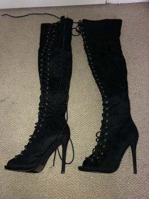Lace thigh high boots for Sale in Apopka, FL