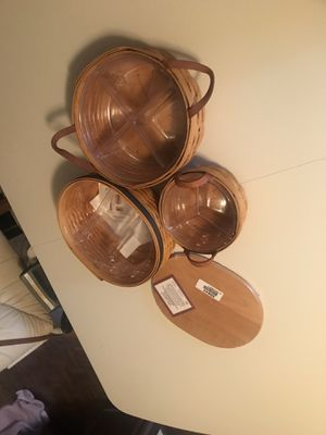 3 Longaberger baskets New/Excellent condition for Sale in Seneca, SC