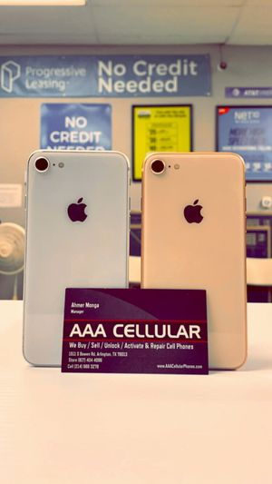iPhone 8 - 256GB / 64GB - Factory Unlocked / ATT T-Mobile Verizon Sprint Starting @ for Sale in Arlington, TX