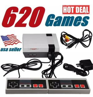 620 video games Nintendo retro mini console your favorite classic games (1 console 2 controllers 1av cable 1 power adapter) game titles in pic for Sale in Phoenix, AZ