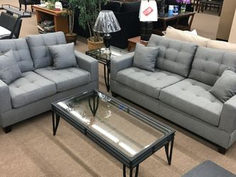 New Sofa And Loveseat.....( 2pc. Set ).....$399........Instock. Now.......2 Colors Instock.... for Sale in Glendale,  AZ