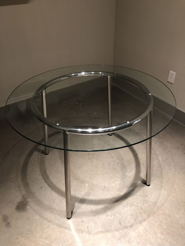 IKEA Glass Breakfast Table