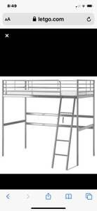 Ikea bunk bed x condition ,needs screws! for Sale in Modesto, CA
