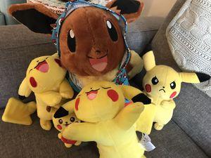 Pikachu mania stuffed animals ( price altogether as unit) for Sale in Falls Church, VA