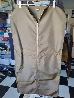 "Louis Vuitton Travel Garment Bag Brown, nylon garment bag with gold, metal ""LV"" logo zip for Sale in Phoenix, AZ"