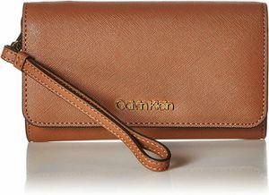 Calvin Klein Saffiano Medium Size Flap Over Wristlet Wallet (Luggage) for Sale in Virginia Beach, VA