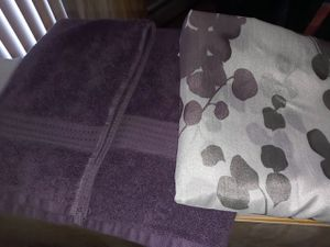 Matching shower curtain & towels for Sale in Ellington, CT