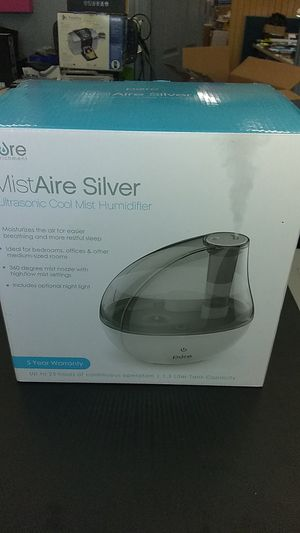 Pure MistAire Silver ultrasonic cool mist humidifier for Sale in Orange, CA