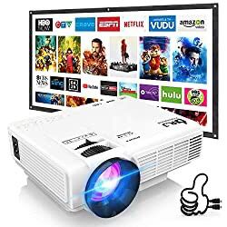 DR. J Professional HI-04 Mini Projector Outdoor Movie Projector with 100Inch Projector Screen, 1080P Supported Compatible with TV Stick, Video Games, for Sale in Chino Hills, CA