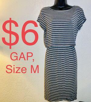 GAP, Gray & White Striped Dress, Size M for Sale in Phoenix, AZ