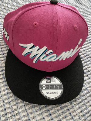 Miami Heat New Era Sunset Vice Pink SnapBack Hat for Sale in Hollywood, FL